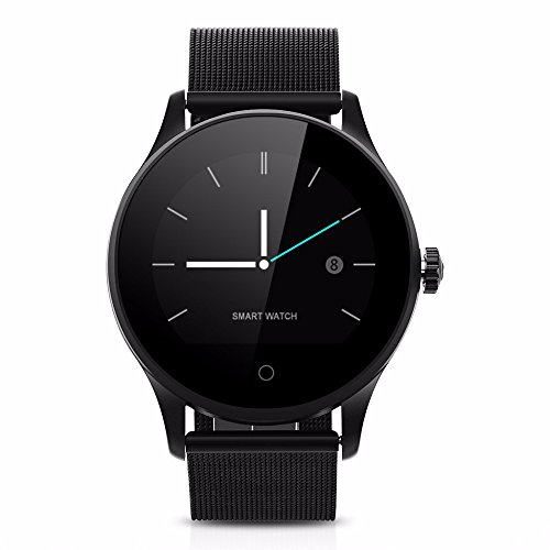 Ablebro - Smartwatch Bluetooth K88H IPS, cassa rotonda, con cardiofrequenzimetro, compatibile con Android, iPhone, Huawei, iOS