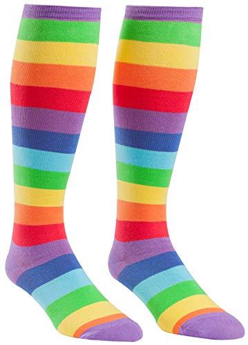Sock It To Me Wide Calf Stretch Rainbow Socks