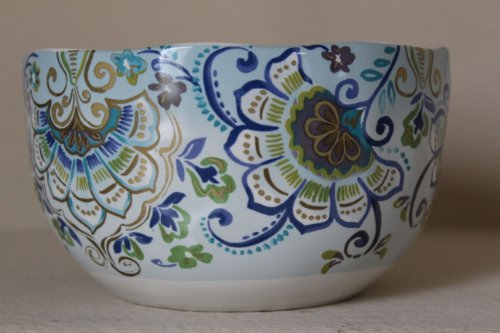 222 Fifth Aisha Porcelain Fine China Cereal/Soup 6' Bowls - Set of 4