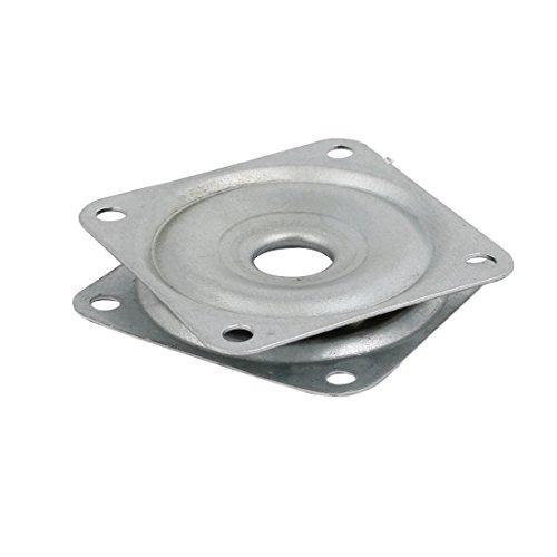 uxcell レイジースーザンターンテーブルベアリング 50x50x8mm 正方形 スイベルプレート スチール材質