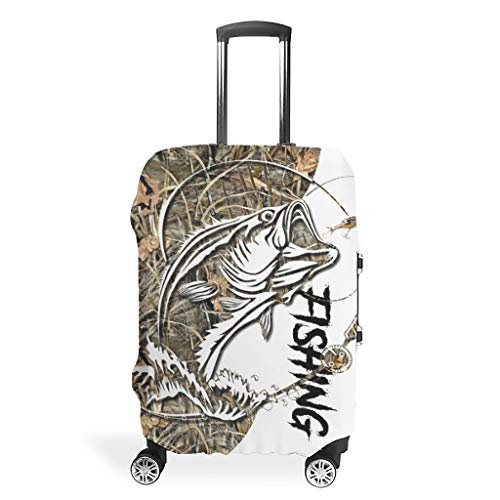 Luggage Cover Fish-ing Anti-scratch Luggage Sleeve Protector for couples white xl (76x101cm)