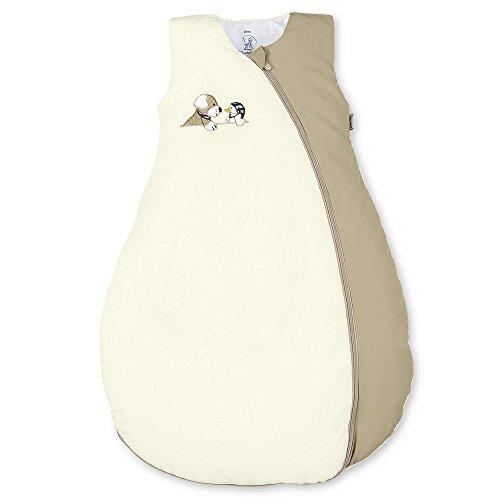 Sterntaler Schlafsack für Kleinkinder, Ganzjährig, Wärmeregulierung, Reißverschluss, Größe: 90, Hanno, Beige/Braun