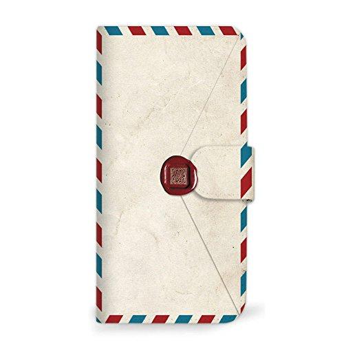 mitas iPhoneSE 第2世代 ケース 手帳型 手紙 封筒 切手 D (249) SC-0231-D/iPhoneSE_2020