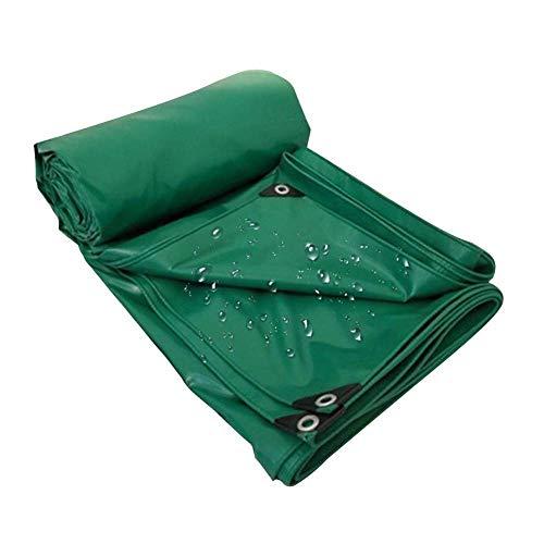 VOPTECH Exterior de Lona Impermeable - Pesado Lonas - A Prueba de Polvo y Desgaste Rip Prueba Lona (Color: Verde, Tamaño: 5.8x9.8m)