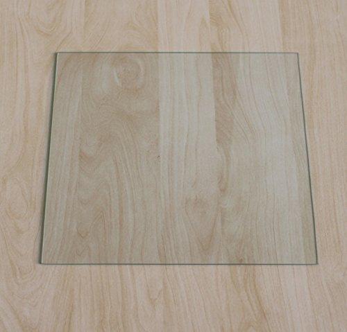 Quadrat 100x100cm - Funkenschutzplatte Kaminbodenplatte Glasplatte f. Kaminofenunterlage (Quadrat 100x100cm ohne Silikon-Dichtung)