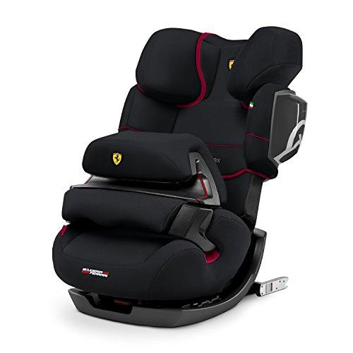 CYBEX Silver 2-in-1 Kinder-Autositz Pallas 2-Fix Scuderia Ferrari, Für Autos mit und ohne ISOFIX, Gruppe 1/2/3 (9-36 kg), Ab ca. 9 Monate bis ca. 12 Jahre, Victory Black