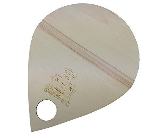 HC-Lasergravur Flammkuchenbrett Pizzabrett Pizzaschaufel 3 Stück Holz 37 x 30 cm incl Gravur Brettchen für Flammkuchen in Tränenform mit Griffloch Flammkuchenschieber aus Holz Pizzabrett 30cm