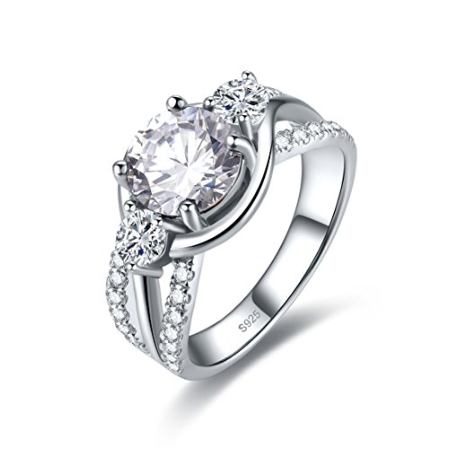 Merthus Cocktail Jewelry Cubic Zirconia 925 Sterling Silver Ring for Women Size 8