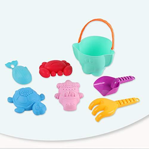 Coche de Juguete de Playa para niños de Goma Suave, Traje de Cubo de Elefante Grande para bebés y niñas, Herramientas de baño y Dragado de Arena Juego Creativo, desata la Naturaleza del bebé