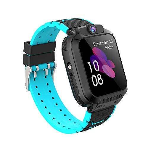 Zeerkeer Smartwatch GPS per Bambini Impermeabile con Supporto per Chiamate SOS e Chiamate Distanza con Schermo Touch Braccialetto Intelligente per Chat Vocale,Ottimo Regalo per Ragazze e Ragazzi