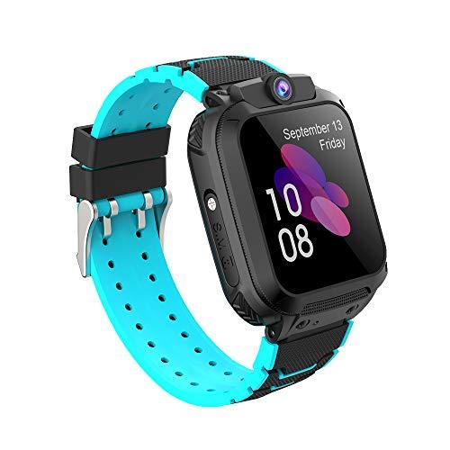 Zeerkeer Reloj Inteligente para Niños,Smartwatch Niño Impermeable con LBS + GPS Soporte SOS Cámara Juego Pantalla Táctil Despertador,Reloj Teléfono para Niños Niña 3-12 Años