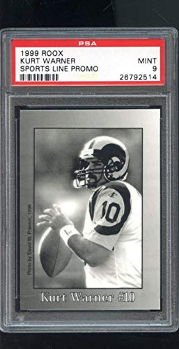 1999 Roox Sports Lines Promo Kurt Warner Graded ROOKIE Football Card PSA 9 MINT