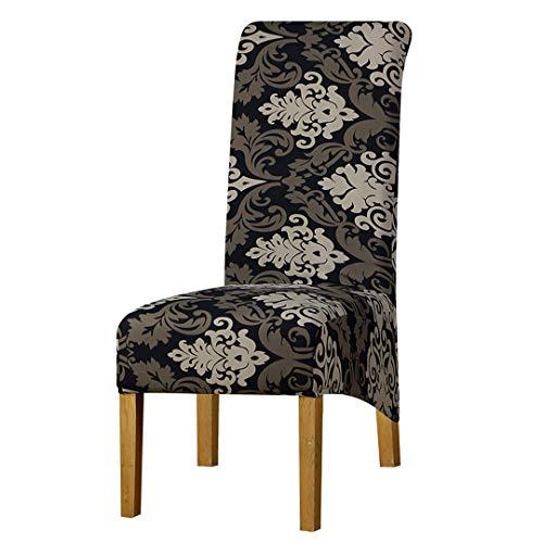 Tireyeres Drucken Blumen unterstützen lang Größe Stuhl-Abdeckung Karomuster Hussen Sitzabdeckung Hotels Partei-Bankett-Dekor 125828 XL XL Sizes