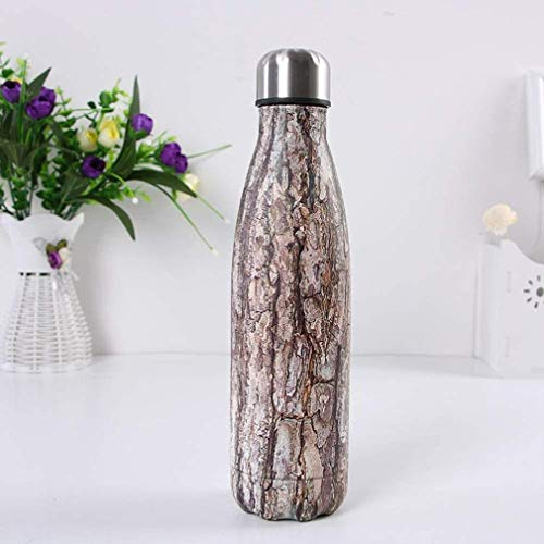 Stainless Steel Water Bottle 500ml,Ultimate Insulated Vacuum Flask Double Walled Leak Proof Drinking Bottle,Perfect for Outdoor,Office,Sports - 12 Hours Hot 24 Hours Cold,500ml,E