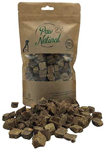 Paw Natural Premium Hundeleckerli aus 100% purem, frischem Fleisch, Gluten- & getreidefrei - 300g Rind-Würfel (Beef)