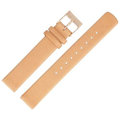 Skagen Correa de reloj de 14 mm, piel, marrón, SKW2405