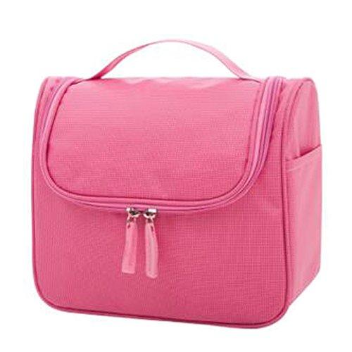 Portable sacs de maquillage de grande capacité sac cosmétique boîte de maquillage, Rose