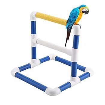 Support de formation de perroquet Bird Table Perch Stands PVC Plateforme de repos pour oiseaux Stand de douche de bain support de gymnase Debout Gym formation Broyage Titulaire du support(Scrub)