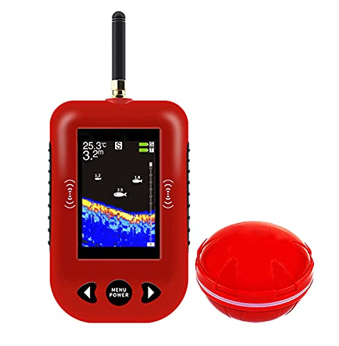 MZNTBW Rastreador de Peces Mar Peces,detectar Sonar de Pesca Buscador Más Profunda Portátil,portátil,GPS Fish Finder y Buscador de Profundidad,en Tierra o en Alta Mar, Agua Dulce o Salada
