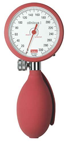 boso dbclin01_ R clinicus I, Klettverschluss Manschette Erwachsene, 60mm Durchmesser Zifferblatt, rot