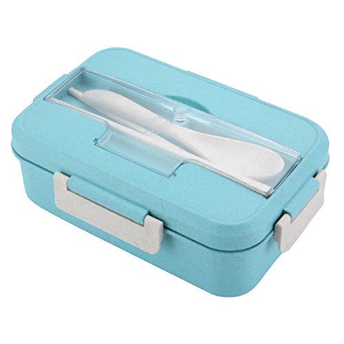 ZLAHY Grano Bento Bento Lunch Box Forno a microonde i Bambini delle scuole Portatile Bento Box Office Scatola di Pranzo dei Bambini CampHiking