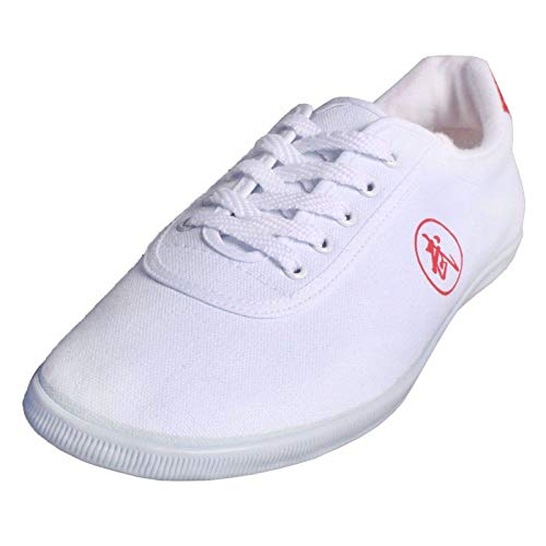 YISHIO Martial Arts Shoes Taekwondo Tai Chi Martial Arts School Exercise Training with Non-Slip Tendon Soft-Soled Shaolin Temple in China Sneakers Morning Exercise Canvas Sports Shoes