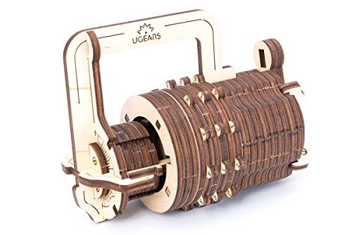 UGEARS Candado de combinaciones - Puzzle de Madera 3D - Cerradura de Combinación Kit de Construcción
