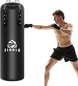 Figolo Boxing Hanging Heavy Punching Bag Filled Set