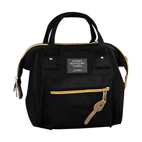 QiKun-Home Bolsos de Lona de tamaño pequeño de diseño de Moda para Mujer, Bolsos Informales para Mujer, Ropa Que combina con Todo, Bolso de Hombro único, Bolso Cruzado Negro