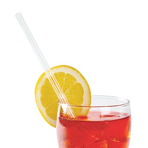 AmerCare 7.75 Inch Giant Clear Paper Wrapped Straws, Case of 7200