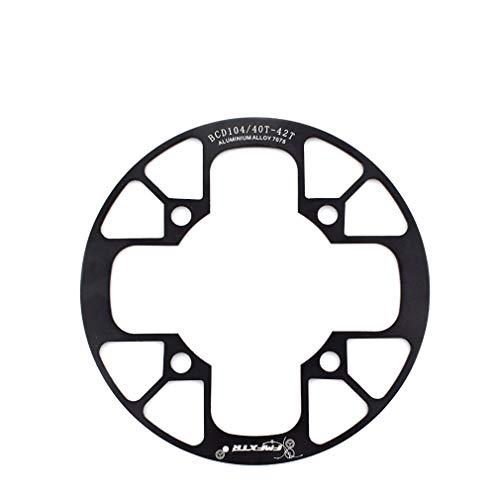 MHCYKJ 104 BCD - Protector de anillo de cadena de aleación de aluminio para 32 ~ 34T 36 ~ 38T 40 ~ 42T piñones de plato, negro, 36T a 38T