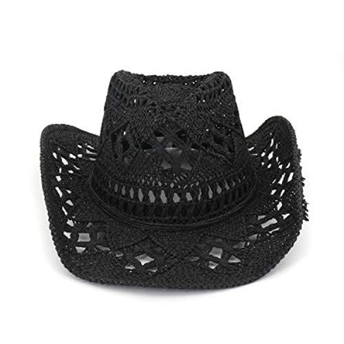 CHENGWJ Straw hoed mannen Panama Hoed Mannen Zomer Bbeach Zon Hoed Westerse Cowboy Hoed Handgeweven Strohoed Mannelijke En Vrouwelijke Liefhebbers Zon Visor Caps