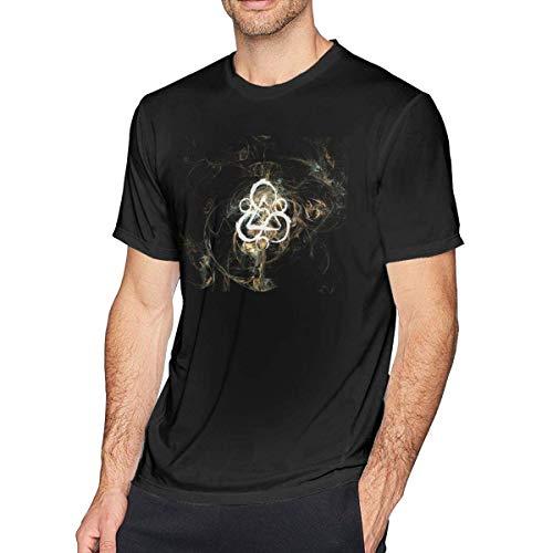 Tengyuntong UiikIIDl Camisetas y Tops Hombre Polos y Camisas VernonG Singleman Coheed and Cambria Cotton Short Sleeve T-Shirt Black