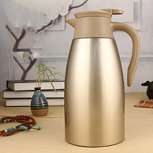 AA- kettle Caldera de Aislamiento Hogar Termo 2L Gran Capacidad Termo Caldera Aspiradora/Color Dorado