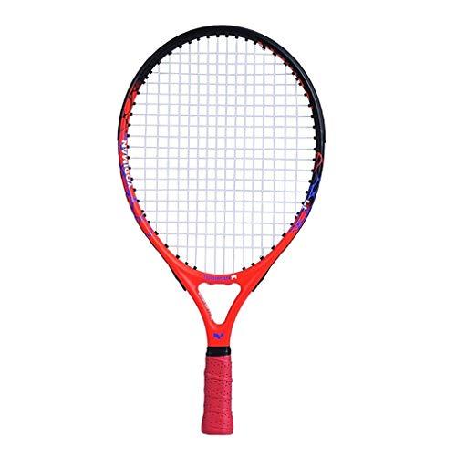 Raquetas De Tenis roja para niños para Principiantes, 19/21/23/25 Pulgadas Hecha de aleación de Aluminio y Carbono, Raqueta Ovalada (Color : Red, Size : 23 Inches)