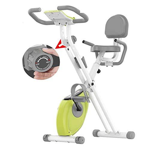 Hammer Ejercicio Bicicleta estática Plegable magnético Vertical reclinada Ciclismo, LCD Monitor de Ritmo y cojín de Asiento cómodo for el hogar Cardio Workout