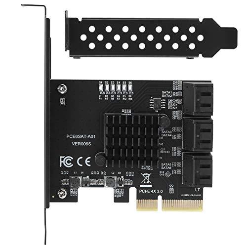 拡張カード 超高速 増設ボード PCIEから6ポートSATA3.0ハードディスク 6ポート拡張カード 6G PCIE3.0 GEN3 4X PCI-E拡張アダプタボード インターフェイスハブアダプタ デスクトップPC用