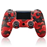 PS4 Controller Red Camo, PS4 Controller Wireless, Controller PS4 Bluetooth, Replacement for Playstation 4 Controller, PS4 Remote Controller, Compatible with Playstation 4/Slim/Pro