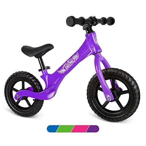 Beleev Balance Bike Aluminum Alloy, No Pedal Toddler Bike Adjustable Seat, Lightweight Sports Training Bicycle for Kids Age 2 to 6 Years Old(Purple)