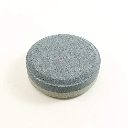 CNmuca Faca doméstica Pedra de amolar redonda Pedra de amolar Pedra de amolar dupla face afiador de ferramentas para acessórios de cozinha cinza