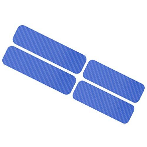 CITALL 4 pcs de bleu de style de fibre de carbone porte seuil usure couverture bienvenue pédale protection autocollant autocollant
