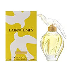 Item Condition: 100% authentic, new and unused. L'air du Temps by Nina Ricci for Women 3.3 oz Eau de Toilette Spray. L'air du Temps by Nina Ricci for Women 3.3 oz EDT Spray: Buy Nina Ricci Perfumes - Feminine and ageless, the elegant blend of soft fl...