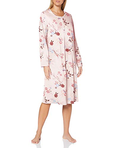 CALIDA Damen Cosy Cotton Nights Nachthemd, Barely Rose Print, 52-54