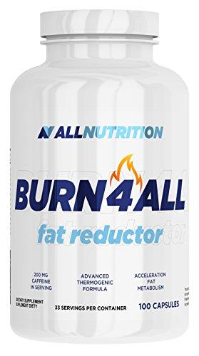 ALLNUTRITION Burn4all Fettburner Fettreduktion Sport Training Bodybuilding (100 Kapseln)