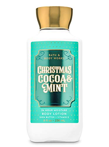 Bath and Body Works Christmas Cocoa & Mint Super Smooth Body Lotion, 8 fl oz