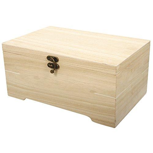 Rayher 62196000 houten kist met inzetstuk, 6 vakken, 28 x 18 x 13,5 cm, 2-delig