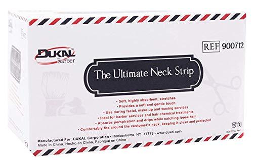 Tiras para el cuello, 300 unidades precortadas, aplicador de cera, bandas elásticas para peluquería, servicios de depilación, tela altamente absorbente, cómodo para el cuello