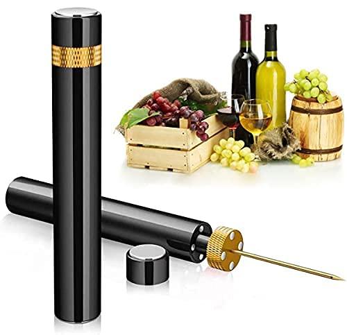 Mini abridor de vino | Bomba de presión de aire portátil de bolsillo para viaje, abridor de botellas de vino, diseño ensamblable sacacorchos 7s Quick