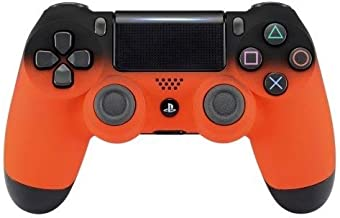 DualShock 4 Wireless Controller for PlayStation 4 - Soft Touch Design - Added Grip for Long Gaming Sessions - Multiple PS4 Colors Available (Shadow Orange) (Renewed)