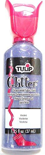 Tulip Fabric Paint Textile Paint T Shirt 3D Dimensional Fabric Pens Paints 37ml (Tulip Glitter Violet)